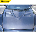 AGenuine good quality with air vent 3K carbon fiber auto parts front bonnet engine hood for Mazda RX8
