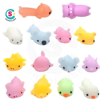 Promotional Anti Squishy Soft Silicone Animal Squishy Toy Relieve Stress Squeeze Pinch Toy