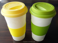 2016 Best Selling Plastic Reusable To Go Coffee Mug/16oz Coffee Cups with Lid & Comfort Grip /Double Wall Travel Design mugs