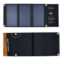 Customized Outdoor Portable 21 watt Sunpower Folding solar panel for cellphone power bank