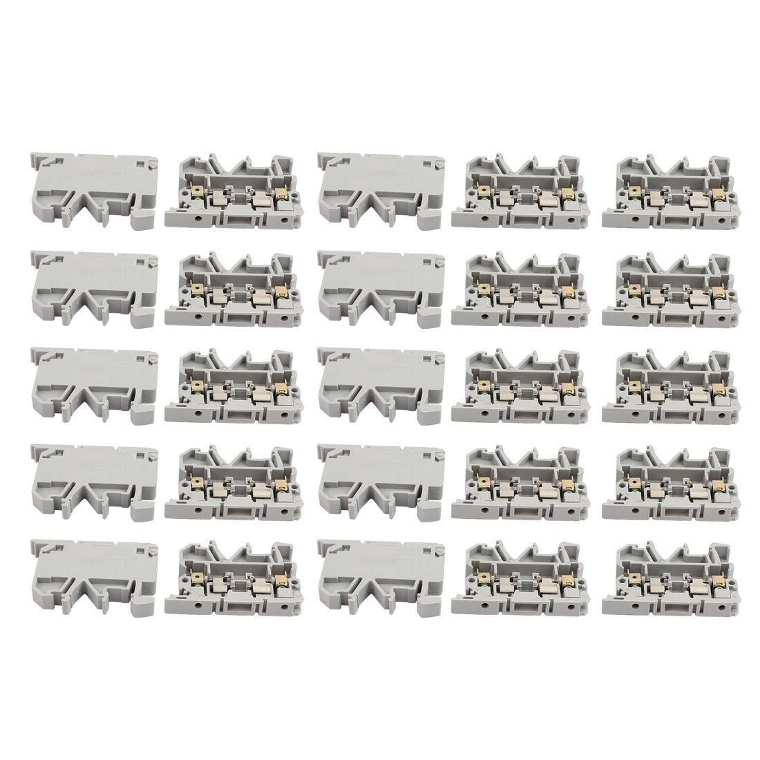 Pack of 50 22 AWG to 12 AWG 5 mm x 20 mm UL Rated 10 Amp at 300V ASI ASIASK1 DIN Rail Fuse Disconnect Terminal Block 8 mm Wide Screw Clamp