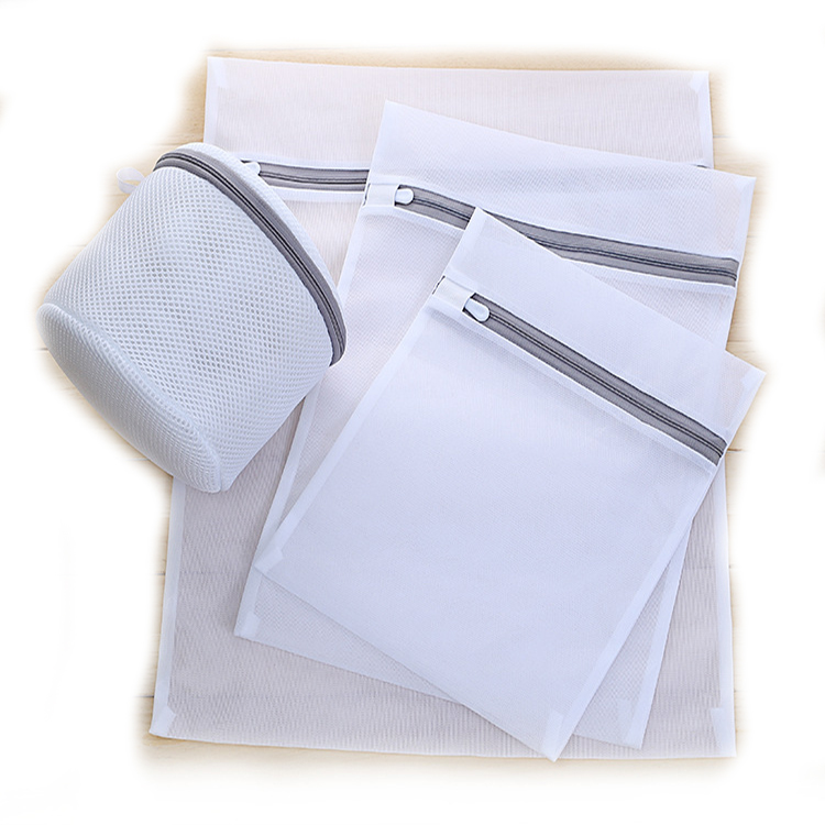 Wholesale Eco-friendly Thickened Fine Mesh Grey Laundry Bag Set Thick Mesh Bags Washing Bag