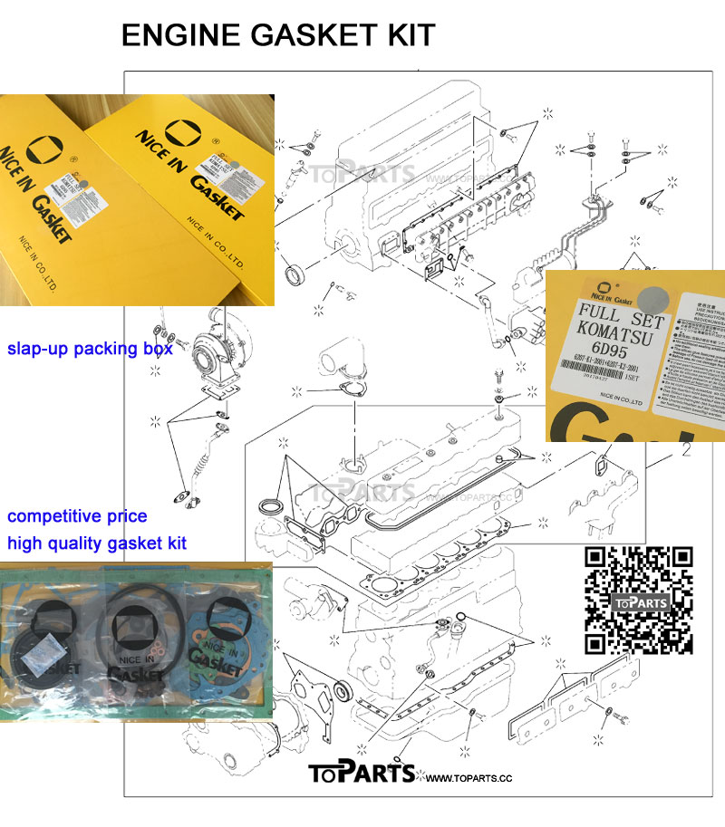 1878129820 1878130260 1878130380 1878130670 Engine gasket kit 6HK1 Excavator ZAX330-3 engine parts OverHaul