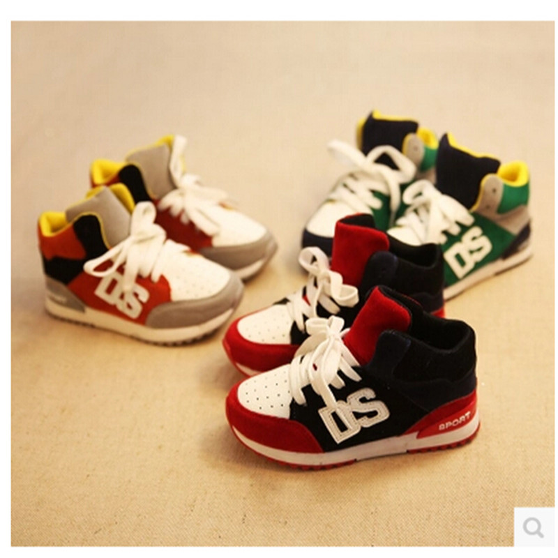 2015Hot selling sport shoes running shoes male child spring female children shoes pedal snearkers