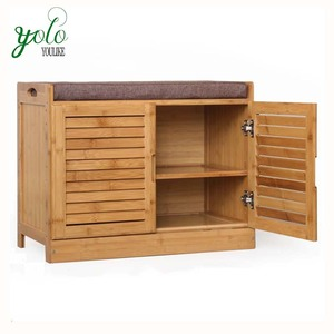 Living Room Multilayer Solid Wood bamboo Shoes Cabinet