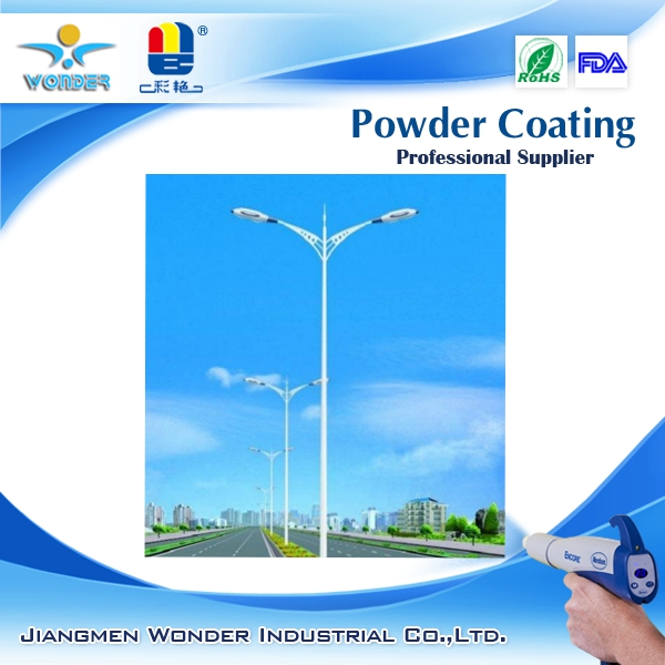 epoxy polyester outdoor white lamp post powder coating