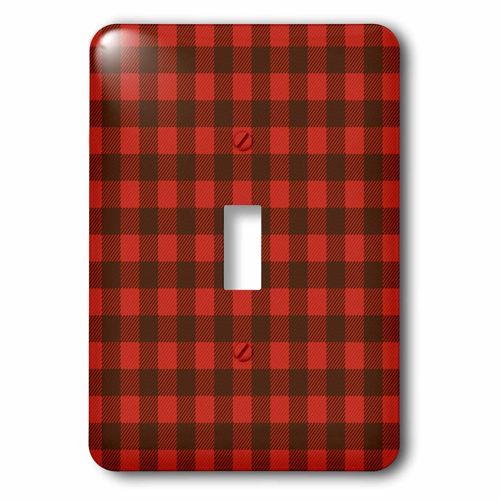 3dRose (lsp_266106_1) Single Toggle Switch (1) Buffalo Plaid
