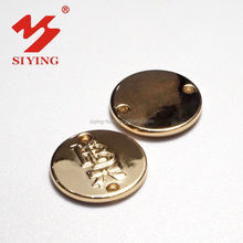 Metal hardware decorations with name brand from China for shoes accessories