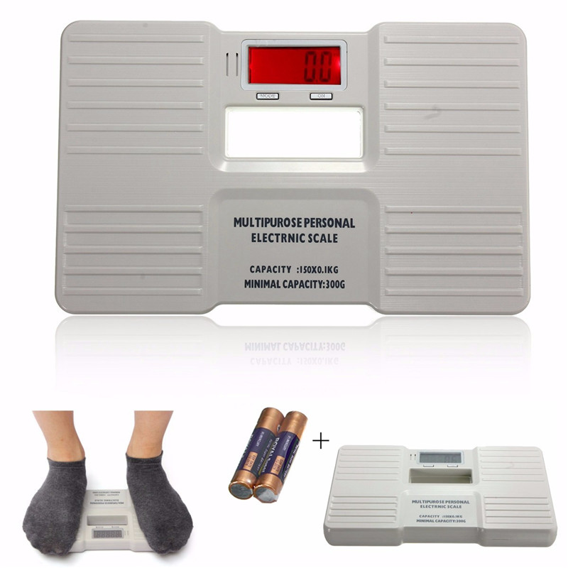 150KG 0.1KG Digital Personal Scales Precision Electronic Bathroom Human Body Floor Scale Portable Body Weighing <strong>Balance</strong>