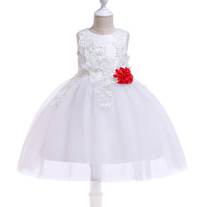 China Suppliers Kids Frocks White Wedding Party Bridal Gown Dress