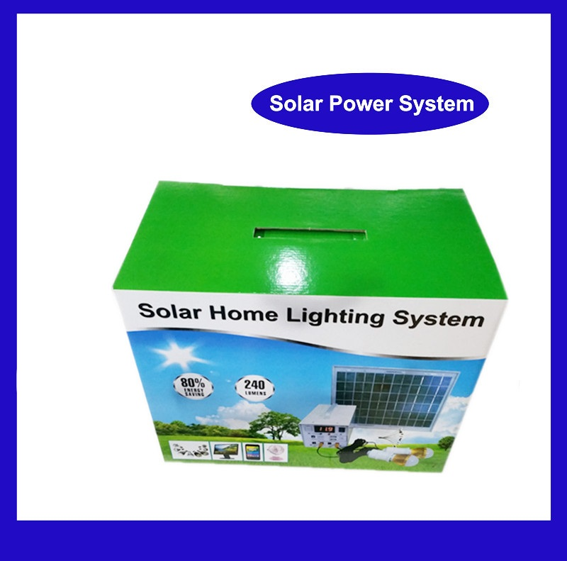Small rechargeable led home lighting 12V 20W mini solar energy system