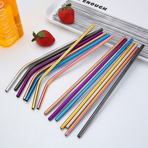 304 stainless steel straws Bar Accessories metal drinking high quality straws