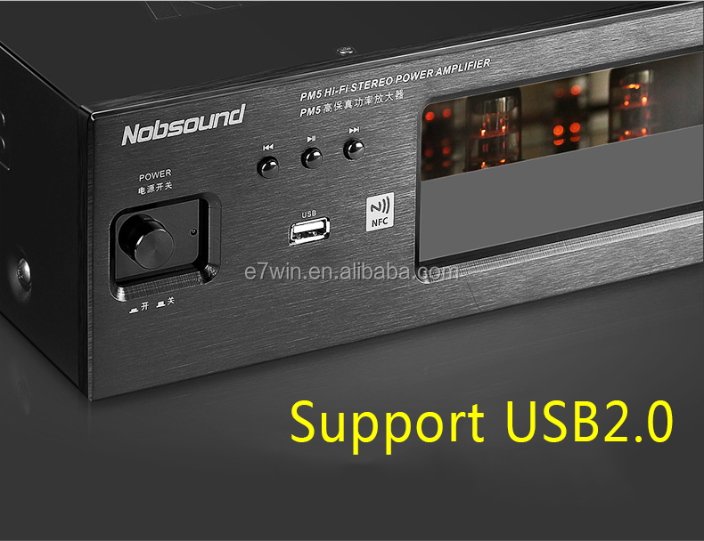 NEW Nobsound PM5 tube amplifier with NFC USB FLAC lossless music player HIFI Stereo AMP audio amplifier 80W+80W