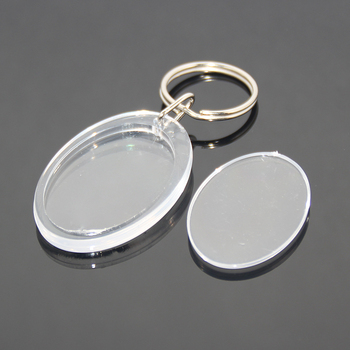 OEM Or Wholesale Acrylic Blank Insert Photo Picture Sticker Key Chain Ring  Holder Plastic Clear Transparent e183c6256b25