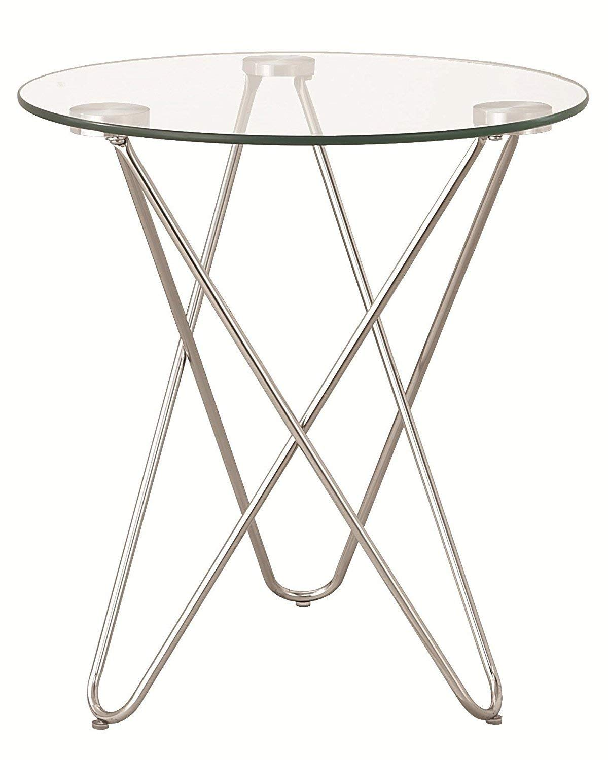 Indoor Multi-Function Accent Table Study Computer Home Office Desk Bedroom Living Room Modern Style End Table Sofa Side Table Coffee Table Glass top side table