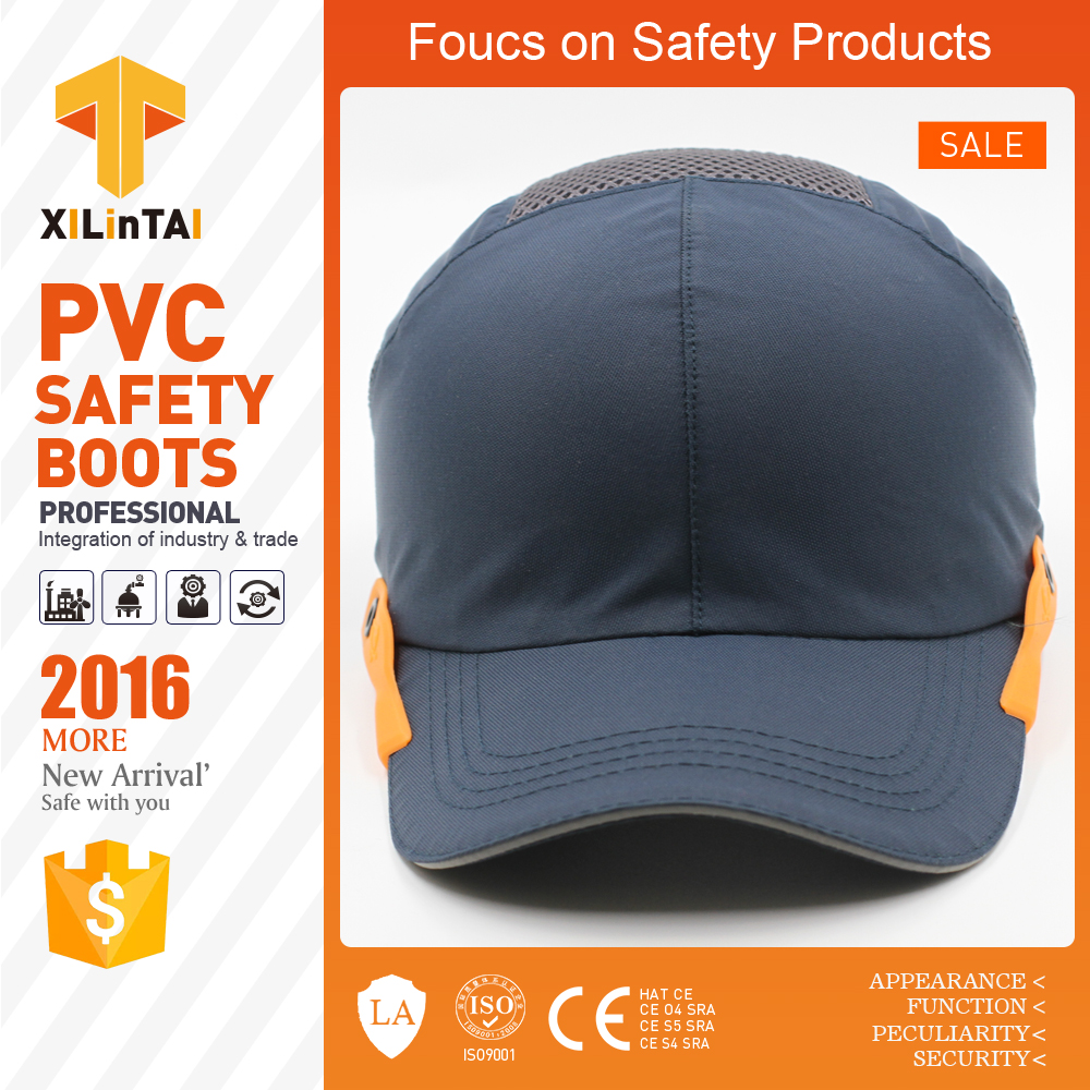 Navy blue industrial safety bump baseball caps <img data-src=