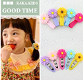 10pcsKorean TOP Yellow Chrysanthemum Kids BB Hair Clip Nice Girl Hairpin Children HeadWear Accessories Diadema Pelo