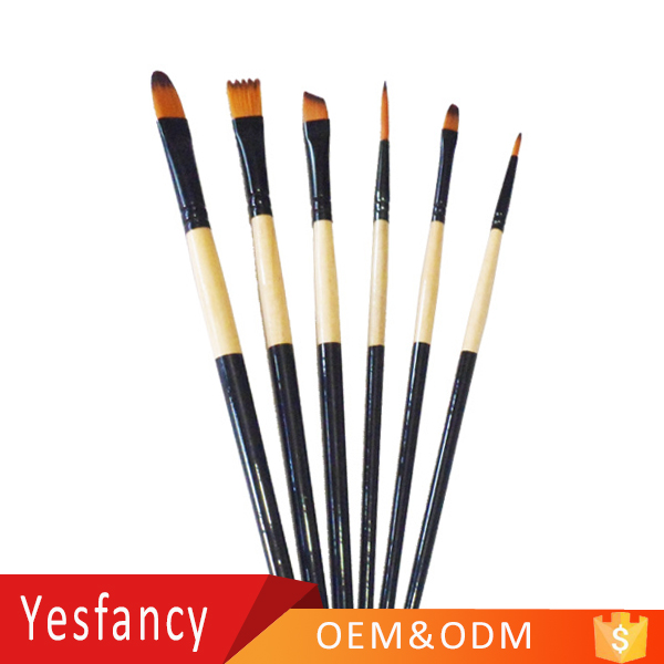 hot sale nylon hair wooden handle watercolor brush pen