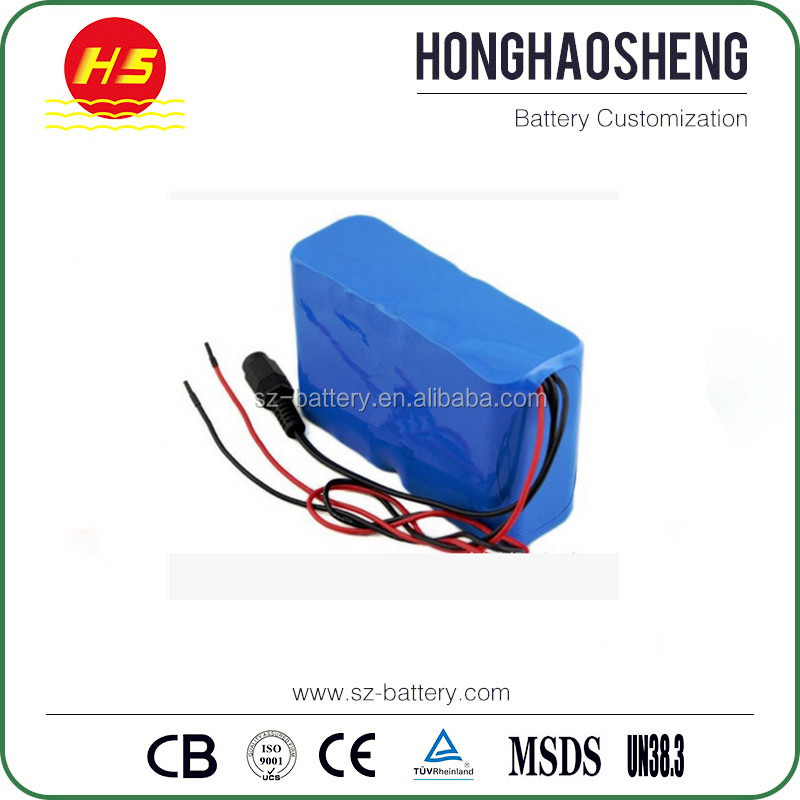 Customized High quality 18650 cells 12v 24ah lithium golf cart battery