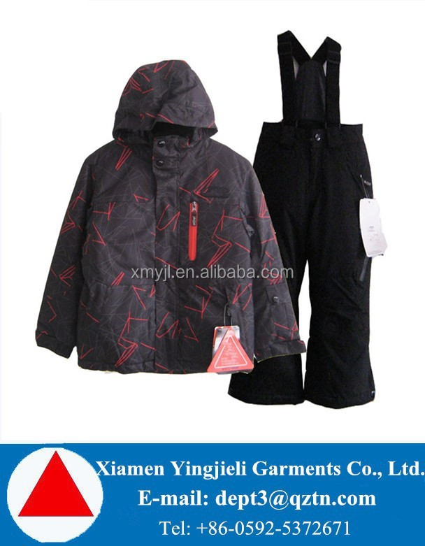 High Quality Fashion Winter Kids Ski Pants & Jackets Sets Xiamen Factory
