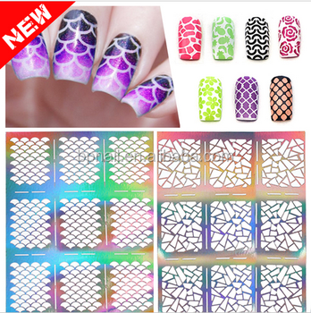 2016 new hot selling nail art sticker 2D Hollow nail vinyls sticker