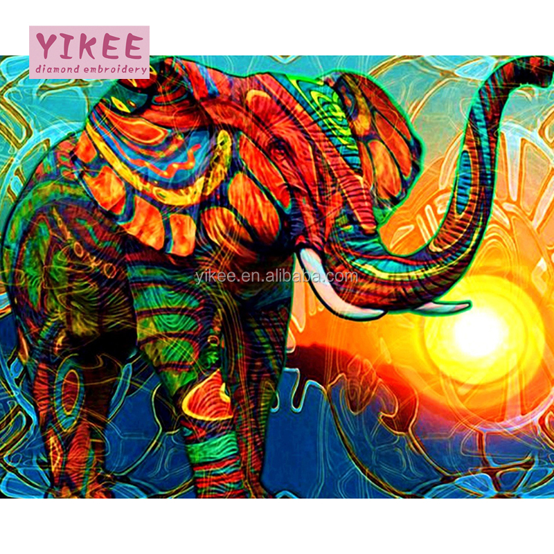 3d Adult Diy Diamond Painting Kitelephant Painting By Number Buy
