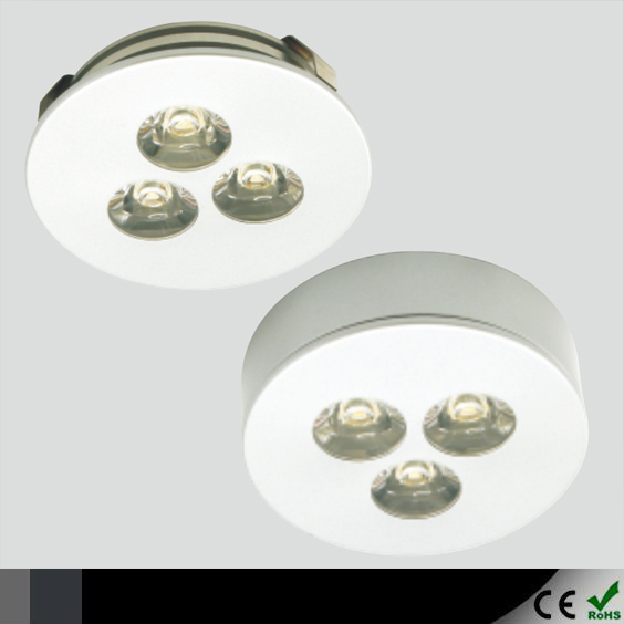 Free Shipping! 3*1W LED Under Cabinet Puck Light Downlight