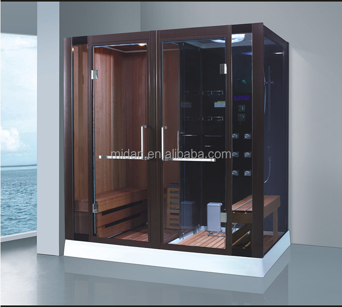 Top quality ceder wood steam shower sauna room combos for personal use AT-8862