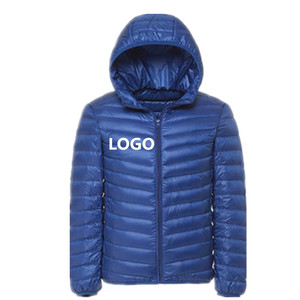 High Quality Men's Light Down Jacket With Hood Windproof Ultralight Men's Feather Down Jacket