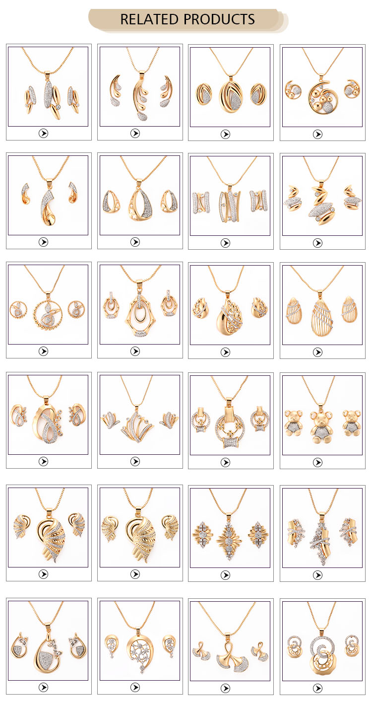 High Quality Fashion Monkey Jewelry 18K Gold Necklace Set Designs