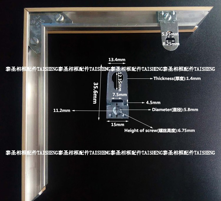 Marco De Fotos De Aleación De Aluminio Placas Traseras/marcos ...