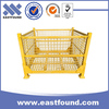 Stacking storage wire mesh foldable steel cage container