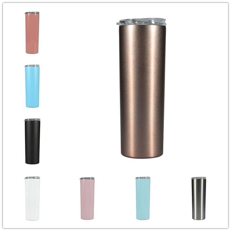 20oz Stainless Steel Skinny Tumbler  High Quality 304 Stainless Steel Wholesale Skinny Tumbler Water Bottle Beer Mug
