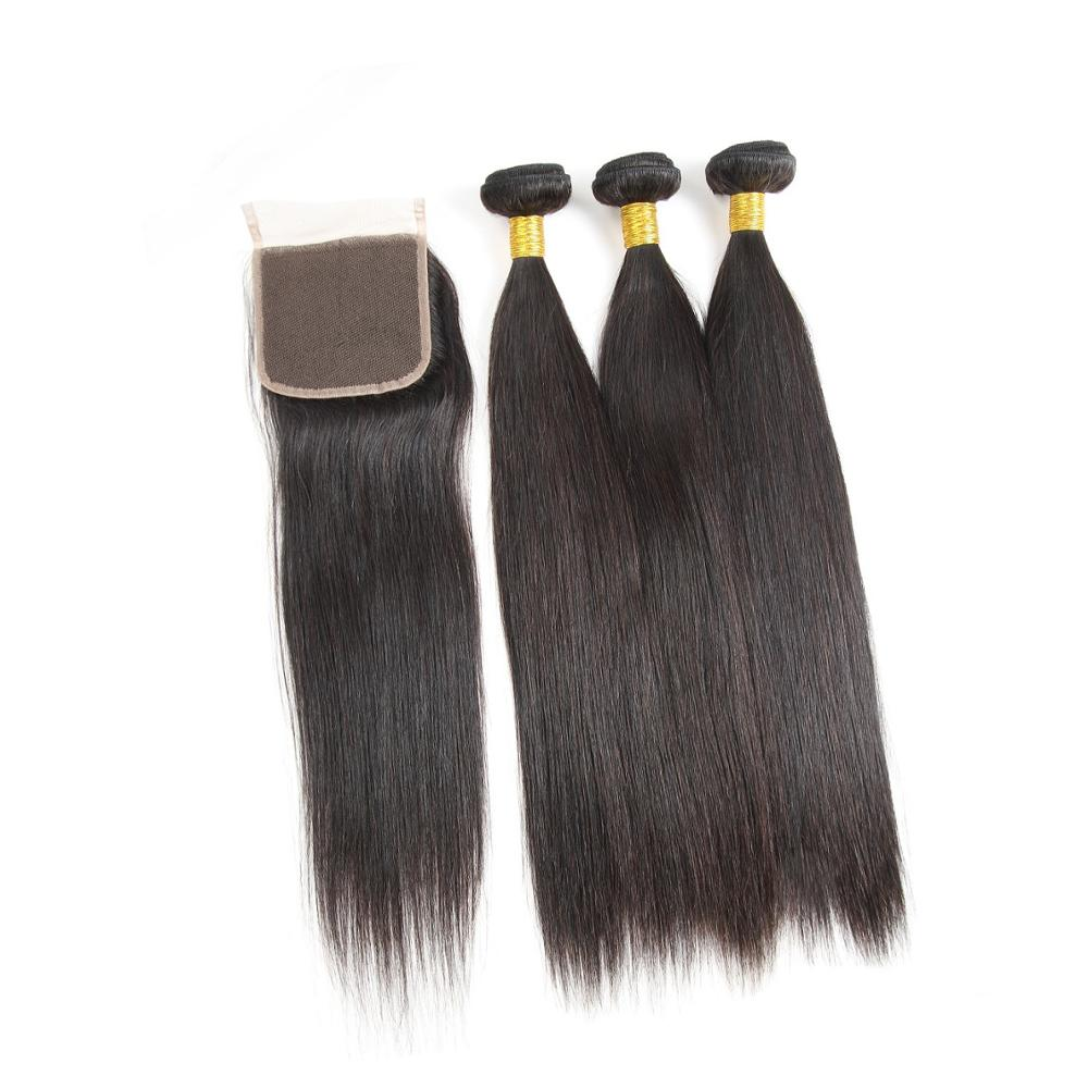 Brand Name Bone Straight Indian Virgin Remy Passion Human Hair Weave Double Drawn Extensions In Dubai With Closure Uk, Natural color