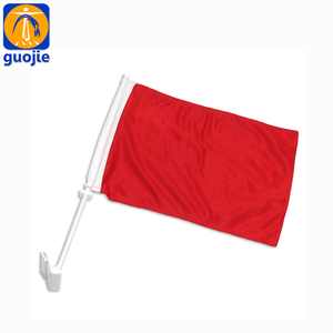 100% polyester plastic stick red decorative car all national flags