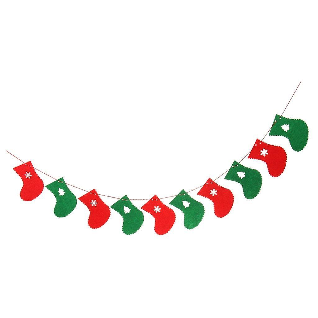 2.8 Meters Cute Christmas Sleigh Elk Deer Pattern Garland Bunting Banners Flag For Door Wall Hanging Decoration Wedding & Anniversary Bands