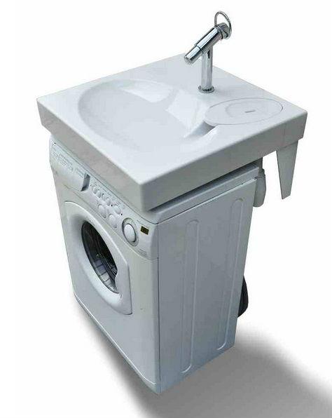 risparmio di spazio per lavabo lavandino del bagno piatto sopra si adatta lavatrice lavabo id. Black Bedroom Furniture Sets. Home Design Ideas