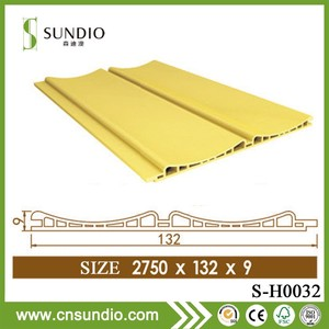 high stability facade wpc shiplap wall cladding /wpc siding panel /wood plastic composite siding