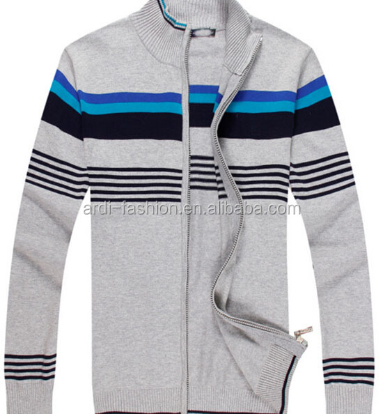classic zip up thermal cardigan boyfriend cardiganmulti-color stripe cardigan