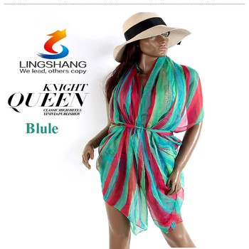 f8fe4bb973 Women Sexy Summer Pareo Sarong Beach Cover Up Swimsuit Bathing Suit Cover  Up Sun Protection Pashmina