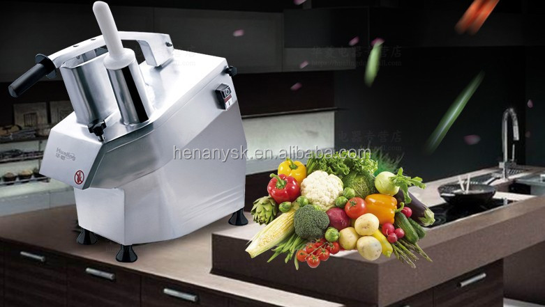 Commercial Kitchen Spiral Onion Potato Stainless Steel Vegetable Cutter Fruit Slicer Shredder Dicer Food Cuber Cheese Slicer