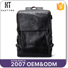 2017 New Product Man Waterproof PU Backpack Bags Top Selling Fashion Men Black Multifunctional Backpacks