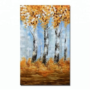 Low prices personalized abstract tree photo canvas oil painting for sale