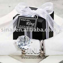 Crystal Diamond Napkin Ring Paperweight