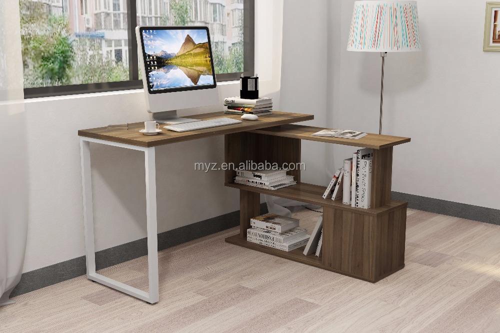 Girar mobília da sala de estar simples mesa do computador com ...