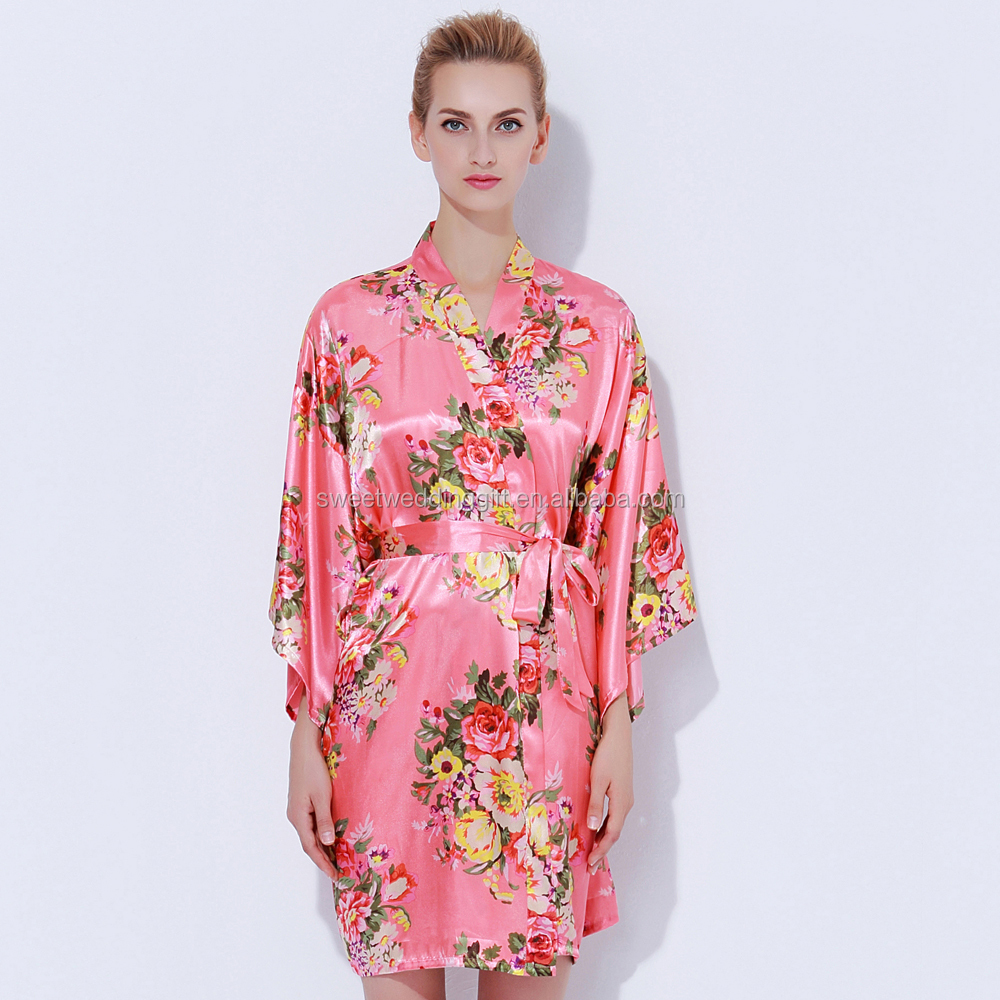 Stock Wholesales Satin Floral Personalised Dressing Gowns - Buy ...