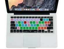 for Logic Pro X 10 Functional Shortcut Silicone Keyboard Cover Skin for Macbook Air 13 inch, for Macbook Pro 13, 15, US&European