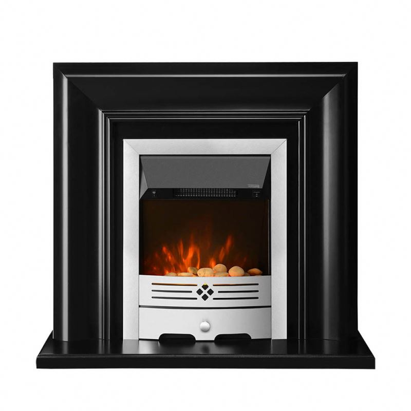 Modern decorative led electric fireplace wood heater with pebble or coal flame effect