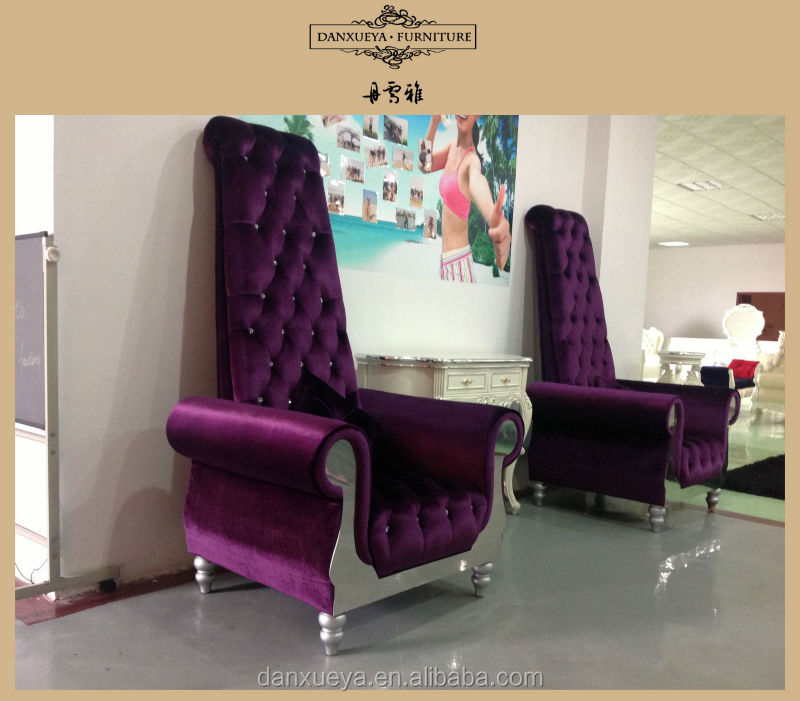 Danxueya Arabic Purple High Back Style Chairs With Selected Material For Hotel 2262