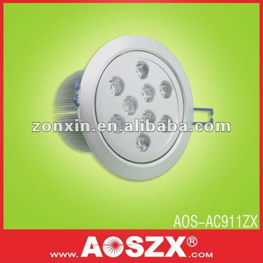 factory direct supply! cold white 900LM down lamp 12 volt LED down lights 9w led down lights 240 volts